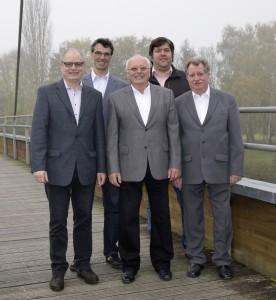v. l. n. r.  Horst Schmitt, Mario Iltisberger, Hans Albert, Thomas Jagemann, Bernhard Birkholz