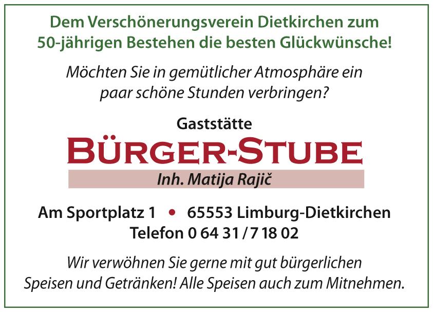 Gaststätte Bürgerstube DGH Dorfgemeinschaftshaus Limburg Dietkirchen