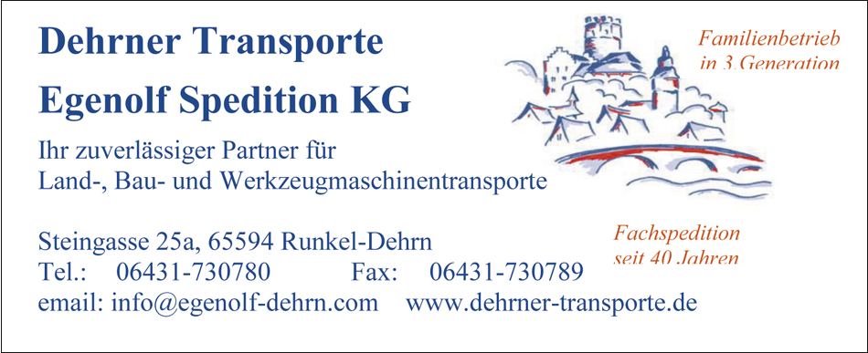 Dehrner Transporte Egenolf Spedition Runkel Dehrn