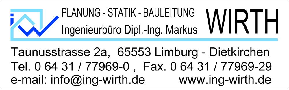 Markus Wirth Bauingenieur Ingenieurbüro Planung Statik Bauleitung Limburg Dietkirchen