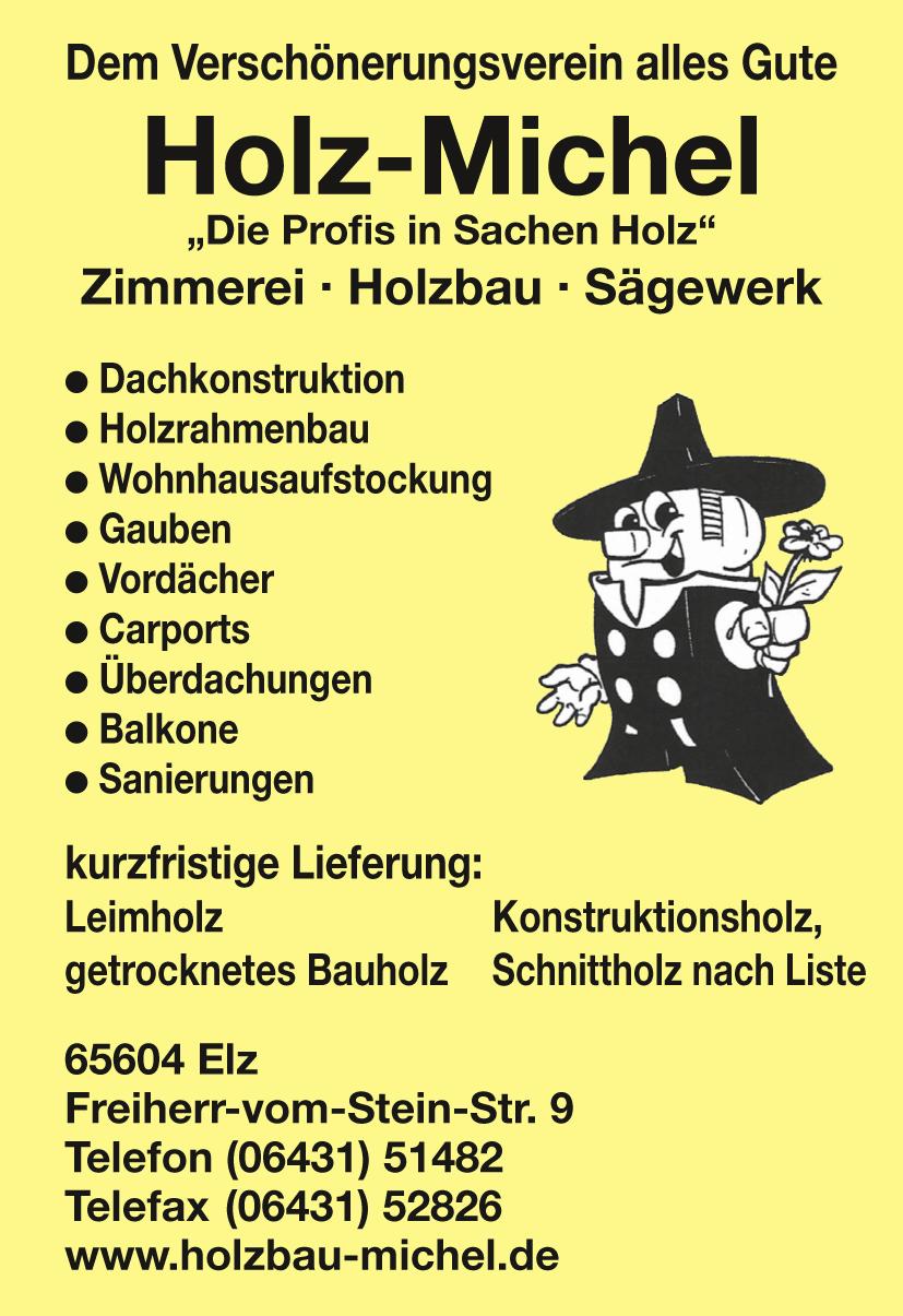 Holz Michel Zimmerei Sägewerk Holzbau Elz